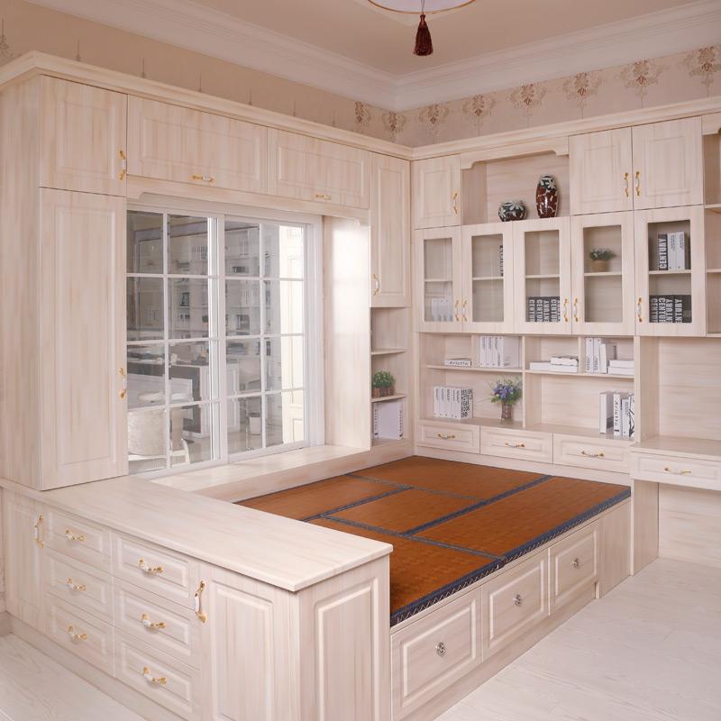 整体衣柜定制 欧式简约推拉门衣柜组合 新西兰实木免漆板m4a2064