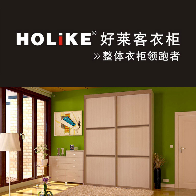 好莱客衣柜(HOLIKE)整体衣柜定制 简约简易衣柜时尚移门收纳衣橱