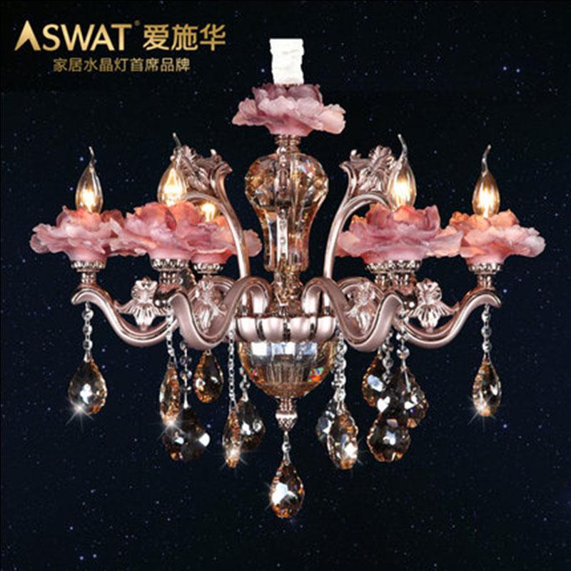 新天利灯饰(Tianli)新夏花欧式婚庆水晶吊灯餐厅客厅灯饰