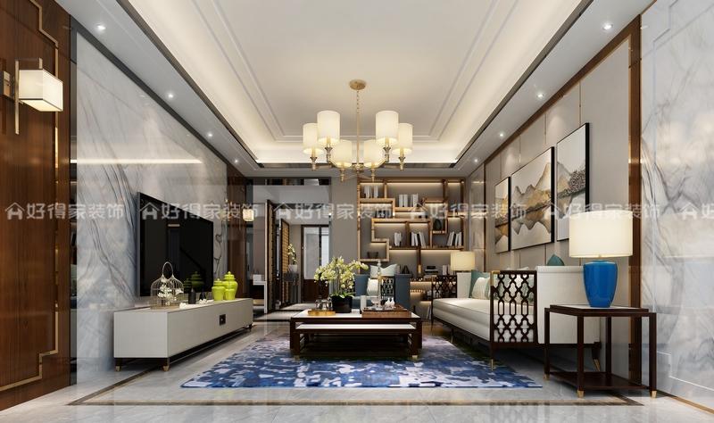 金山别墅 中式风格 300平