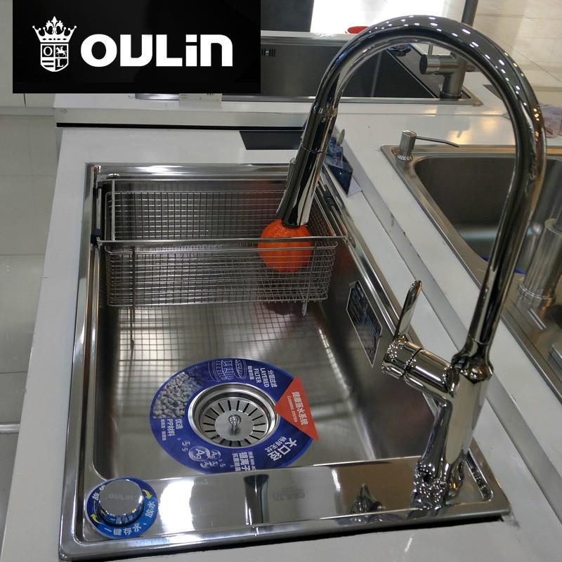 欧琳水槽 净水水槽 800*460 CS415S+C9528K