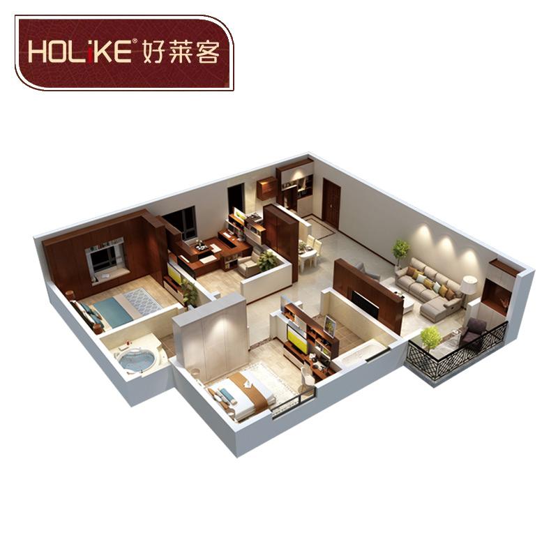 好莱客(HOLIKE)原态套餐衣柜 13平方
