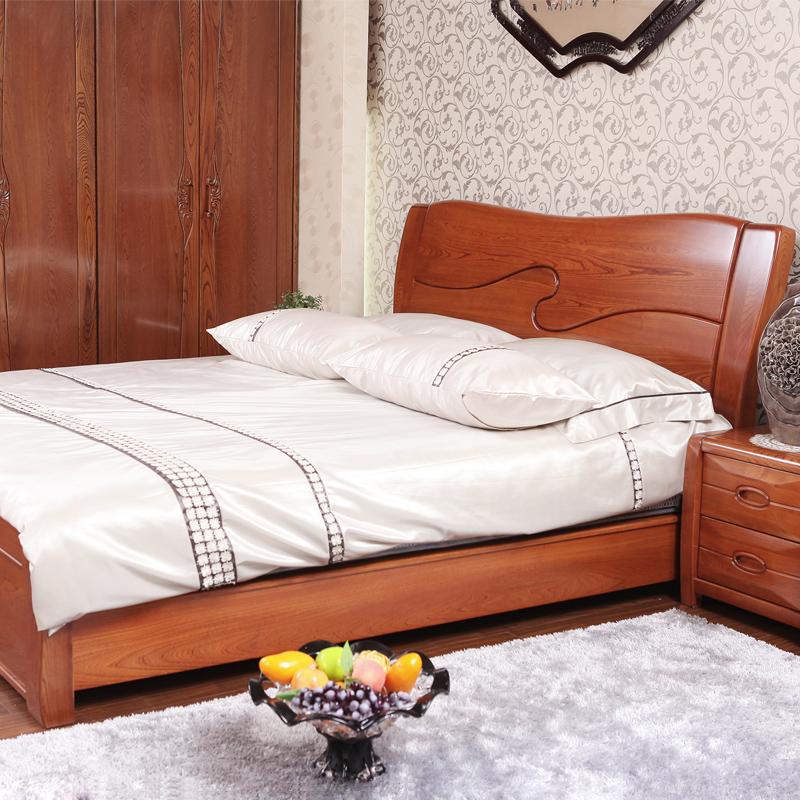 8m 老榆木厚重高箱床 儿童床卧室家具现代中