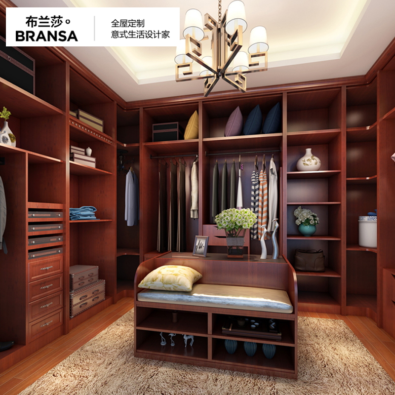 布兰莎全屋定制   新中式  衣帽间 卧室