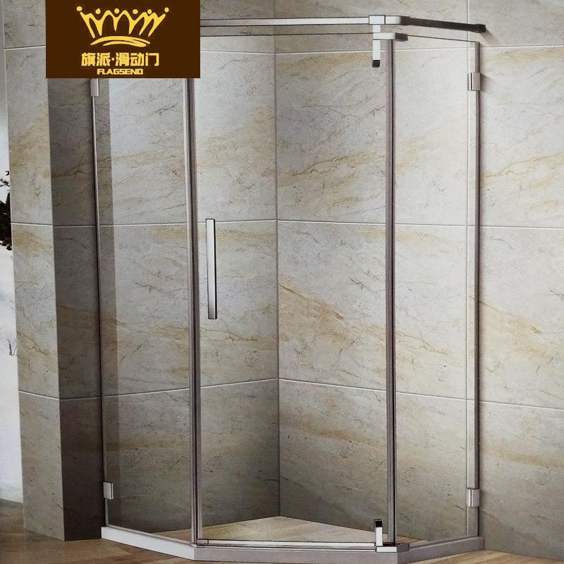 旗派滑动门淋浴房钻石型可定制款8011系列淋浴房 滑动门移门