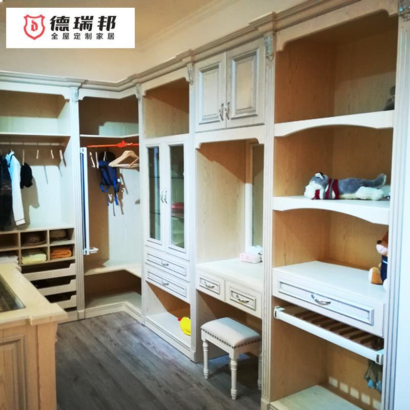 德瑞邦橱柜整体衣帽间定制 步入式开放大收纳衣柜
