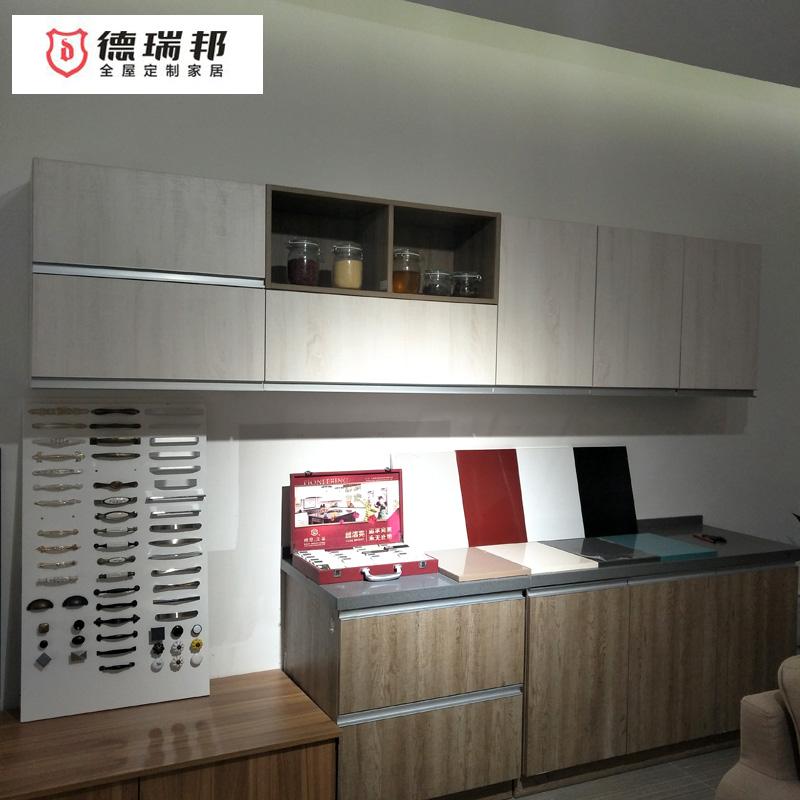 德瑞邦橱柜整体厨房 一字型现代简约橱柜定制 多功能橱柜组合柜定制
