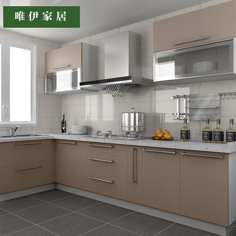 定制橱柜整体橱柜定做石英石台面橱柜门定制整体厨房橱柜
