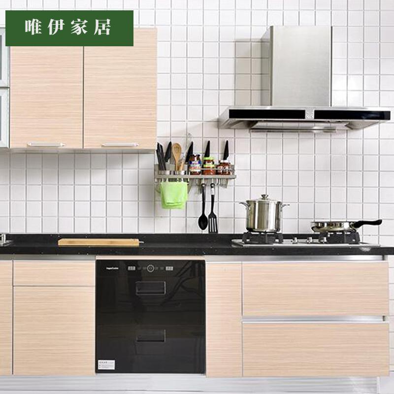 唯伊家居-整体橱柜定做厨房橱柜简易石英石厨柜仿实木白色简约欧式