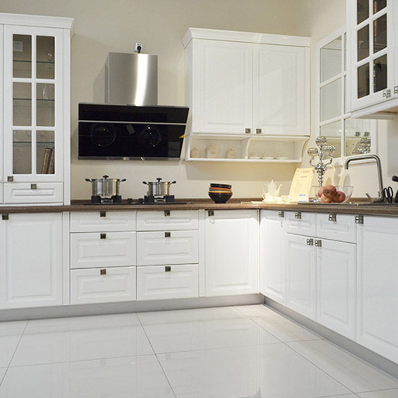 欧式风格烤漆橱柜烤漆门整体橱柜定制 厨房烤漆厨柜定做