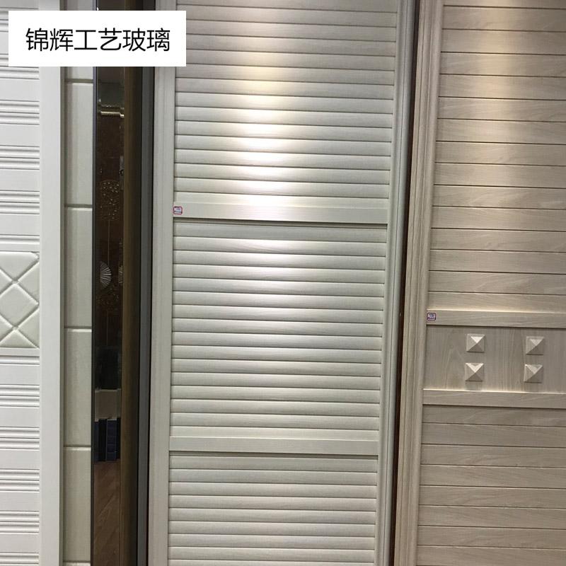 锦辉艺术实木衣柜门移门  605澳洲白三孤板