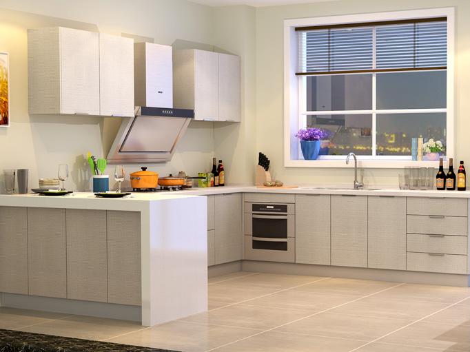 金牌厨柜整体橱柜装修西雅图2预付金台面定做厨房厨柜定制整体橱