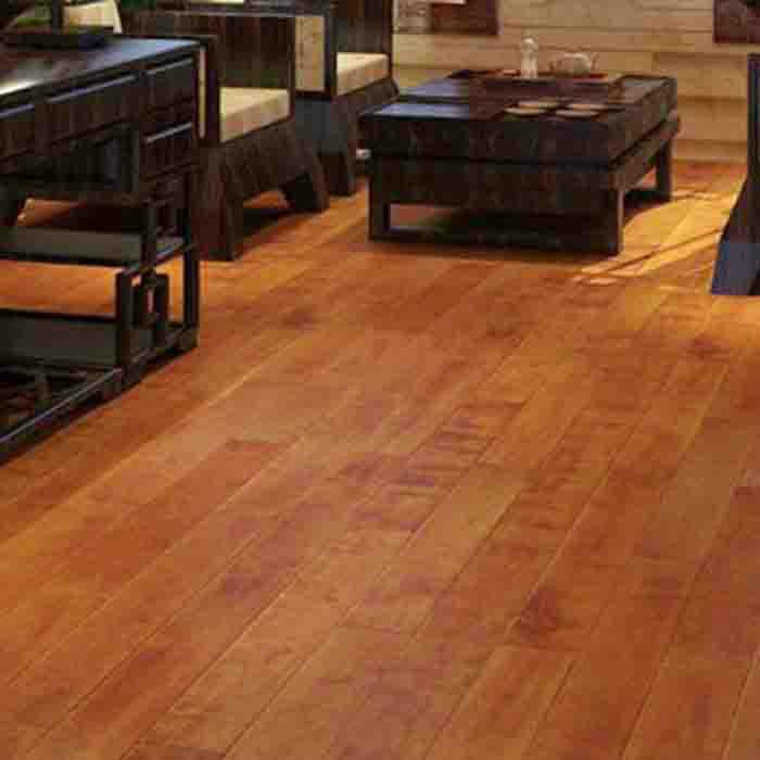 世友实木地板 进口桦木原木地板高耐磨抗刮家用防水地板