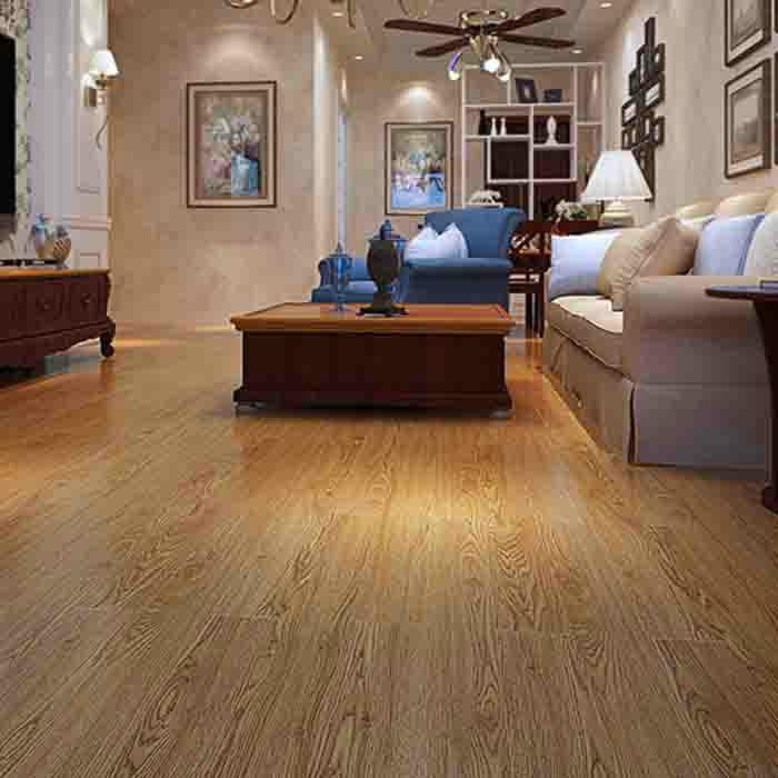 世友实木复合地板 橡木纹浅色防水耐磨地暖地热地板