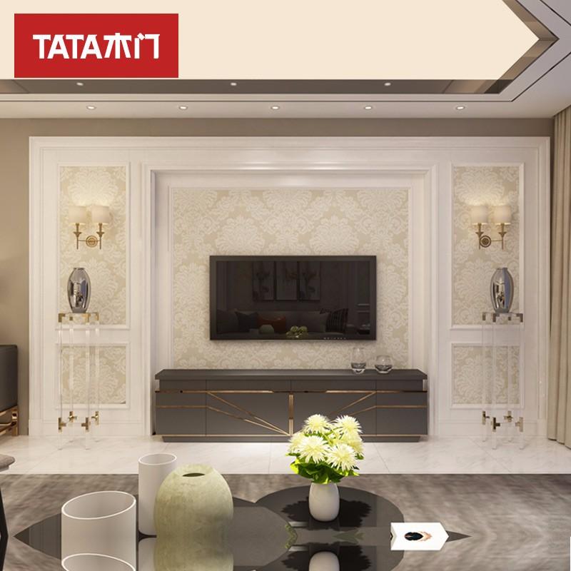 TATA木门(tata)定制美式田园客厅卧室书房电视床头典雅1号背景墙BN套餐