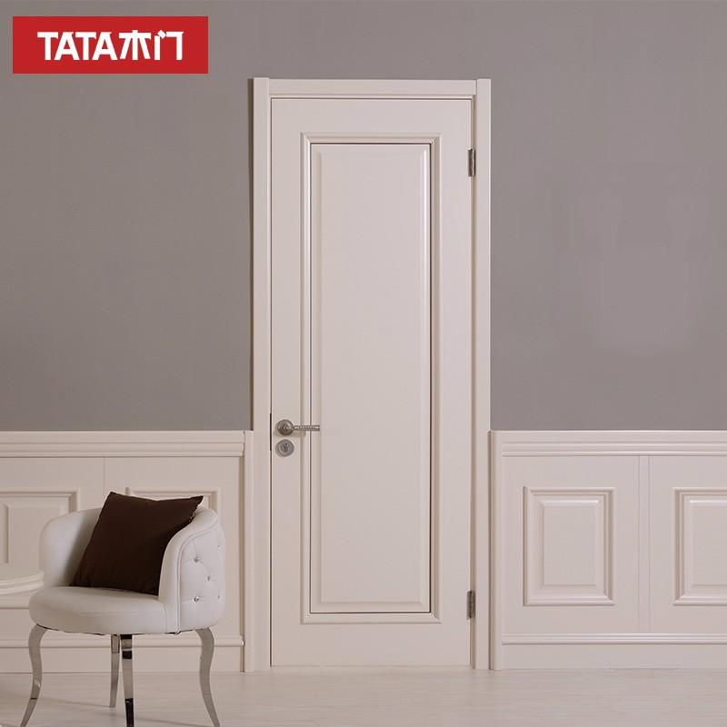 TATA木门 (tata)简约卧室室内门 实木复合油漆定制木门JO-011A-J米白CJ