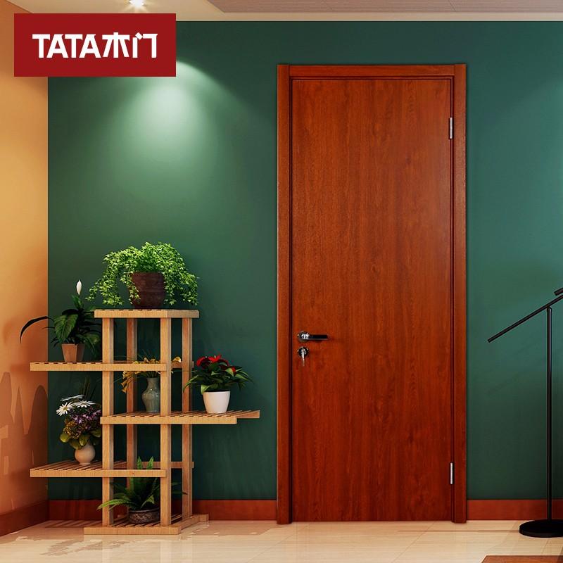TATA木门(tata) 简约时尚室内房门卧室套装门 实木复合免漆定制木门@001