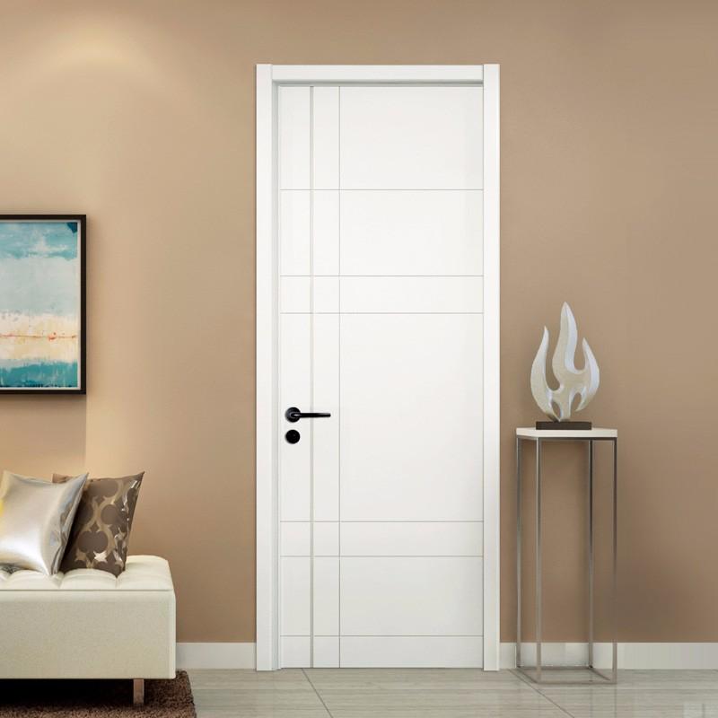 TATA木门(tata) 简约室内门卧室木门 油漆套装门 定制木门白混油AC020Y