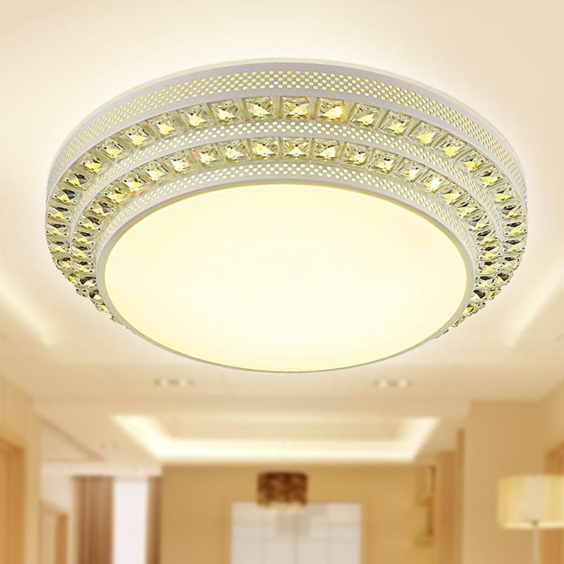雷士照明led长方形客厅灯吸顶灯现代简约水晶灯具温馨大气卧室灯